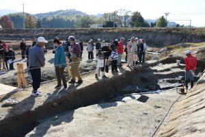 発掘現場の見学